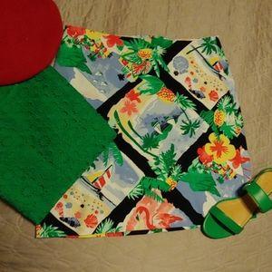 Talbots tropical skirt. NWOT